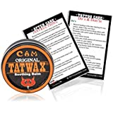 Cam TatWax Tattoo After Care Soothing Balm Tattoo Color Enhancer (Made in USA)