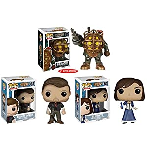 Funko Pop Pack Bioshock Infinite: Big Daddy + Booker DeWitt + Elizabeth Funko Pop Bioshock