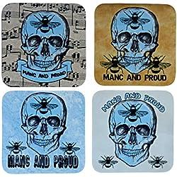 Penny the Poocher Manchester Bee Blue - Juego de 4 unidades, set de regalo