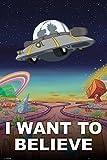 GB Eye LTD, Rick and Morty, Je Veux Le Croire, Maxi Poster, 61 x 91,5 cm
