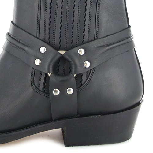 Mayura Boots MB004 Saddle/ Damen und Herren Bikerstiefelette Braun/ Herrenstiefelette/ Damenstiefelette Schwarz