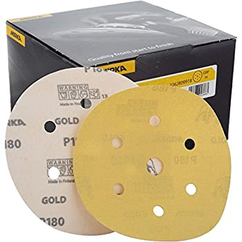 """Mirka Gold Grip Discs 150mm 6/"""" All Grits Available - 7 Hole"""