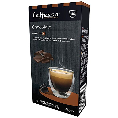 Purchase Caffesso Chocolate Coffee Capsules (Nespresso Compatible) x 10 from Caffesso
