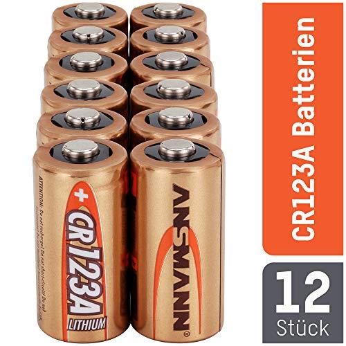 ANSMANN CR123A Lithium Batterie 3V 12 Stück - ideal für Garagentoröffner, Alarmanlage, Miniradio, Funkauslöser für Kamera, Messgeräte, Klingel 12 Cr123a Lithium Batterien
