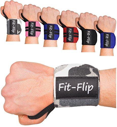 2x Profi Handgelenk Bandagen | Wrist Wraps in 15 Farben, Handgelenkstütze in Premium Qualität für Kraftsport und Bodybuilding, Handgelenkbandage fitness (camouflage)
