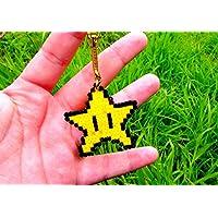 Porte-clés Etoile provenant de Mario - Nintendo • Hama Beads • Pixel/art • Perler beads