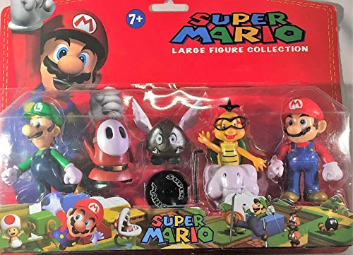 Pack de 5 Figuras de Mario