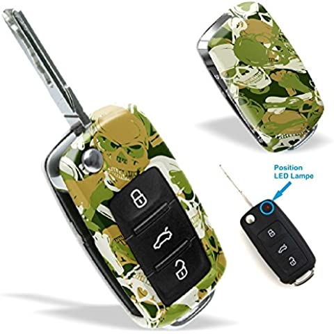 La cobertura de la llave de SEAT VW SKODA con Diseño camo skulls