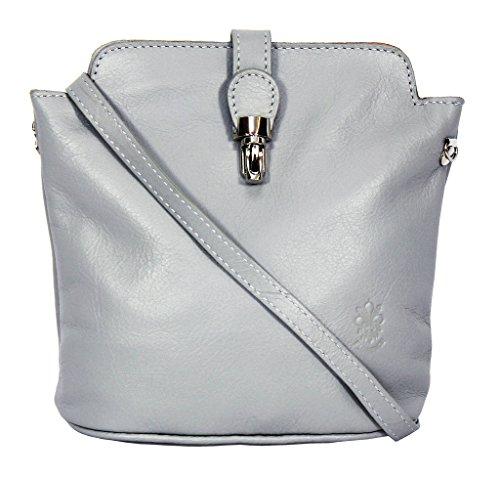 Benagio , Damen Umhängetasche Silber silber S grau