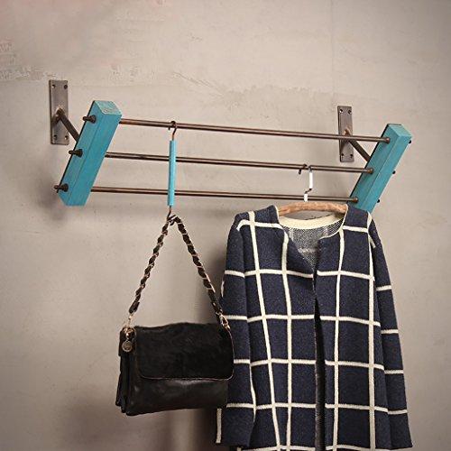 SH-qiang Kleiderständer Bekleidungsgeschäft Ständer für Kleiderständer Massivholz Wandmontierte Hängeständer Regale Regale Wandgarderobe (Größe : 120cm)