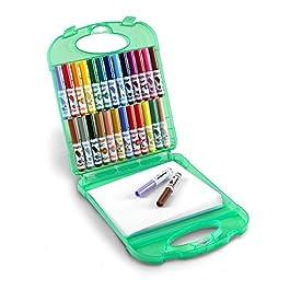 CRAYOLA – Set Pennarelli Lavabili per Bambini, Valigetta con 25 pennarelli lavabili e fogli per disegnare, 65 pezzi