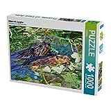 Biber con cucciolo 1000 pezzi puzzle orizzontale: roditori e animali selvatici (CALVENDO animali)