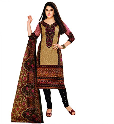 Miraan Women's Cotton Dress Material (SG913_MultiColoured_One Size)