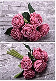 YATAI 6 Heads Real Touch Artificial Rose Flowers Floral Wedding Bouquet Wholesale Artificial Flowers Plants fo