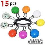 Greemosi Hunde-Lichter für Halsbänder, Clip-On Pet Hundehalsband, LED-Licht, Hundemarken-Licht, wasserfest, für Hunde und Katzen bei Nacht, Ersatzbatterien und Hundehalsband im Lieferumfang enthalten