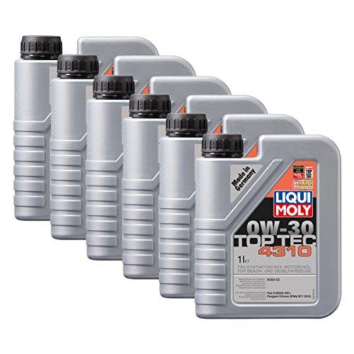 Preisvergleich Produktbild 6x LIQUI MOLY 3735 Top Tec 4310 0W-30 Motoröl FIAT PEUGEOT 1L