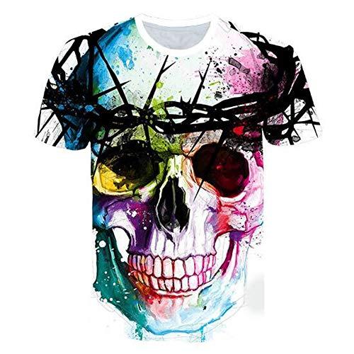 Sommert-shirtMännersommer-beiläufige Tarnungs-Druck-mit Kapuze ärmelloses T-Shirt Spitzenweste,3D Casual Print - T Farbe - A 2XL (Cutter Cougar Cookie)