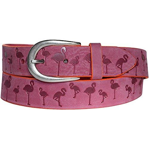 Vanzetti Damengürtel mit Flamingo Pink, Breite: 3,5 cm, 100 cm