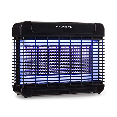 Waldbeck Mosquito Ex 5500 LED Insektenvernichter UV-Insektenfalle Mückenschutz (11 Watt, 150 m² Wirkung, LEDs, LongLife Technology, magnetischer Transformator, Attraction360 Concept) schwarz