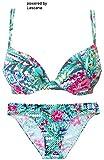 Sunseeker Damen Push Up Bikini Grün 38 Cup B