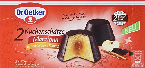 Dr. Oetker Fertiger Kuchenschatz Marzipan mit Apfel-Zimt-Füllung, 6er Pack (6 x 100 g)