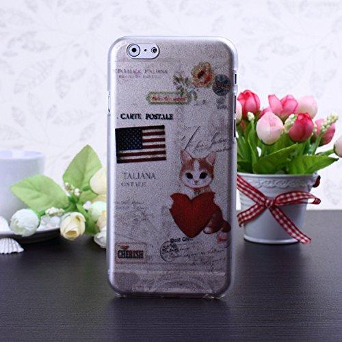 Hard Case Colorful mignon Fleurs Cartoon Papillon Conception de coeur givré mat en plastique pour iPhone 6S 6 ( Color : 7 , Size : IPhone 6S 6 ) 13