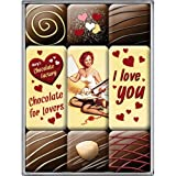 Nostalgic-Art 83047 Say it 50's - I Love You Chocolate, Magnet-Set (9teilig)
