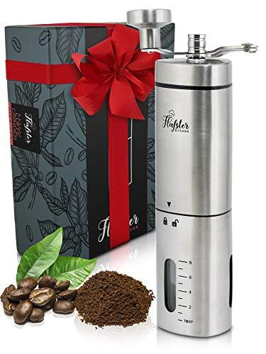 Flafster Kitchen - Molinillo de Café Manual - Molinillo de grano de café manual cónico con mecánismo de cerámica - Molinillo de Café en grano