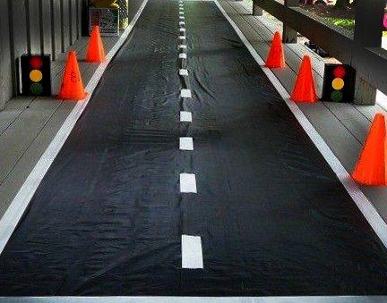 Erdgeschoss Läufer für Party Race Auto-Thema Zubehör Dekoration schwarz, weiß ()