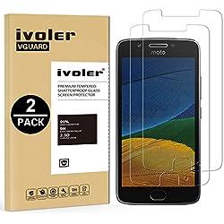 iVoler [Pack de 2] Verre Trempé pour Lenovo Motorola Moto G5, Film Protection en Verre trempé écran Protecteur vitre