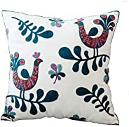 MeMoreCool Bohemia Exotic Style Pillow Sham Exquisite Stereoscopic Embroidered Cotton Throw Pillow Cover India