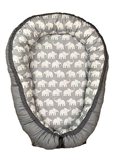 Handgenähtes Babynest Kuschelnest Babynestchen (ca.80 x55 cm). Weiches und sicheres Baby-Reisebett Babybett Nestchen für Neugeborene bis 1 Jahr. Farbe: wählbar