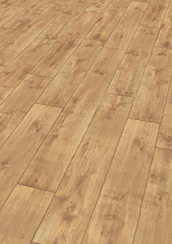 EGGER Home Laminat hell braun Holzoptik - Vinstra Eiche honig  EHL093 (7mm, 2,481 m²) Klick Laminatboden | Bodenbelag - Eiche Hell Laminat