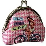 Petit-Monedero, diseño de Pin-up Modelo rosa de bicicleta