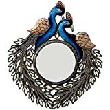 Handicraft Village Decorative Handicraft Wall Mirror For Home Decore, Gift Purpose (HV1774_Mullti-Colour)