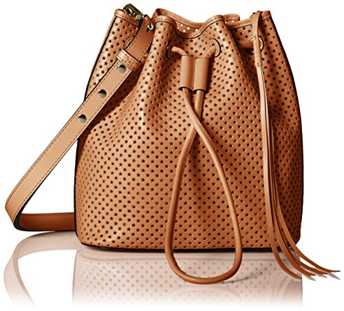 Rebecca Minkoff Star Perf Bucket Bag, Almond, One Size