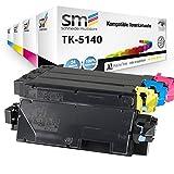 4 FABRIKNEUER Toner | 30% höhere Reichweite| kompatibel zu Kyocera TK-5140 für Ecosys P6130cdn M6530cdn M6030cdn TK-5140K TK-5140C TK-5140M TK-5140Y