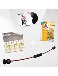 """NEU Swing Stick PREMIUM mit 2 Schwierigkeitsstufen, Made in Germany inkl. DVD """"Fatburner"""" 33 Min., Trainingsposter"""