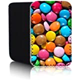 Biz-E-Bee Exclusive 'CHOCOLATE SMARTIES SWEETS' 7'' Protective Neoprene Pouch for ALCATEL ONE TOUCH PIXI 3 7 inch Tablet - Shock & Water Resistant Cover, Case, Pouch, Slip - Fast Ship UK