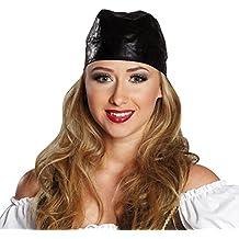 NET TOYS Bandana Pirata Aspecto de Cuero - Negro  a32d7c08ce5