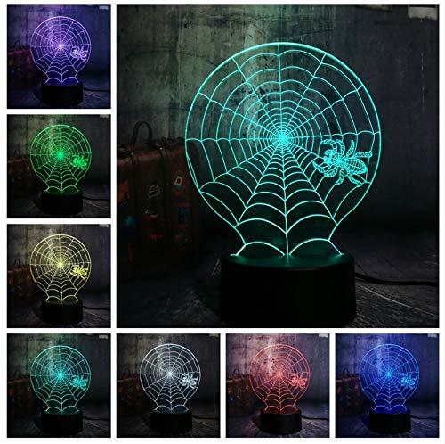 Kronleuchter 3D Halloween Scary Scene Led Nachtlicht Spinnennetz Spinnennetz Schreibtischlampe Horror Wohnkultur Kind Weihnachtsgeschenk