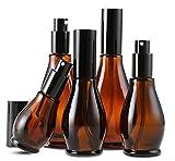 Ricaricabile vuoto marrone crema lozione bottiglia con tappo nero