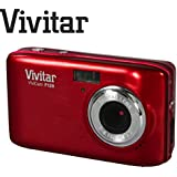"""14 Megapixel Ultra Compact Digital Camera with 2.7"""" Screen Vivitar Vivicam VF128 F128 14.1-megapixel resolution, 4X digital zoom, and 2.7-inch ultra-clear LCD screen offers vivid pictures and easy sharing wherever you go (Red)"""