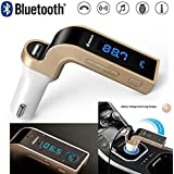 Inventia CARG7 Bluetooth FM Transmitter Universal Wireless In-Car FM Adapter Car Kit With Hand Free Call/Stereo Music Player Supported/TF Card U-Disk Reading/USB Car Charge For IPhone And Other Smartphone