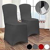 Stuhlhussen Universell Husse Stretch Stuhlbezug Stuhlüberzug Stuhlüberwurf Hochzeiten, Partys oder Events | Setauswahl | 2er Set | dehnbar | Farbe Weiß