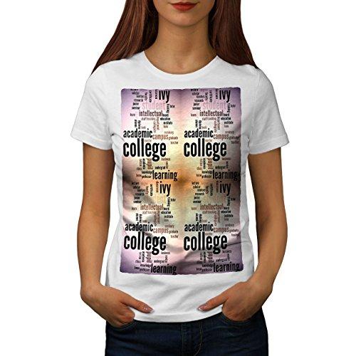 Wellcoda Hochschule Studie Efeu Slogan Schule Wörter Frau M T-shirt