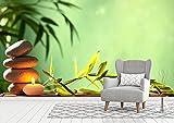 Fotomural Vinilo Pared Deportivo Zen piedras | Fotomural para paredes | Mural | Vinilo Decorativo | Varias Medidas 350 x 250 cm | Decoración comedores, salones, habitaciones...