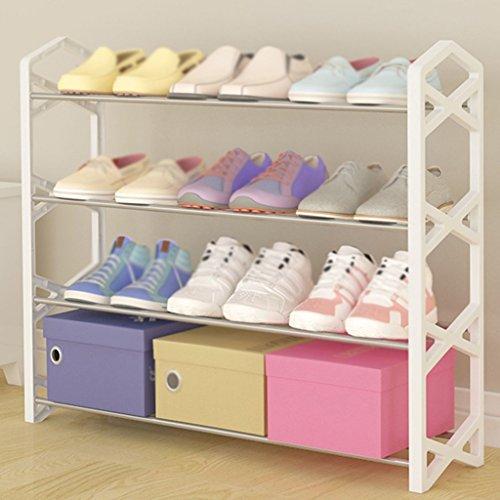 Dortoirs Fer Multilayer Économique Acier inoxydable Shoe Rack Simple Maison Créative Multifonctionnel Assemblé Simple Chaussures Cabinet ( taille : 78 28 136cm )  Noir (Black/Thunder) 1qJxJfpP7