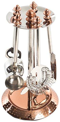 Bel-Air 60605Stück zum Aufhängen Bar Werkzeug Set, Kupfer