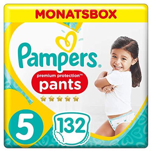 Pampers Premium Protection Pants, Gr. 5, 12-17 kg, Monatsbox, 1er Pack (1x 132 Stück)